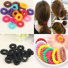 5Pcs New Hair Bands Elastic Bracelet Hair Ties Spiral Slinky