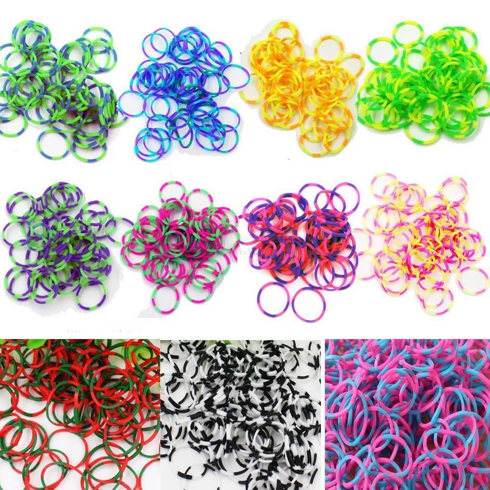 600 Rubber Loom Bands Refills DIY With S Clips 1 Get 1