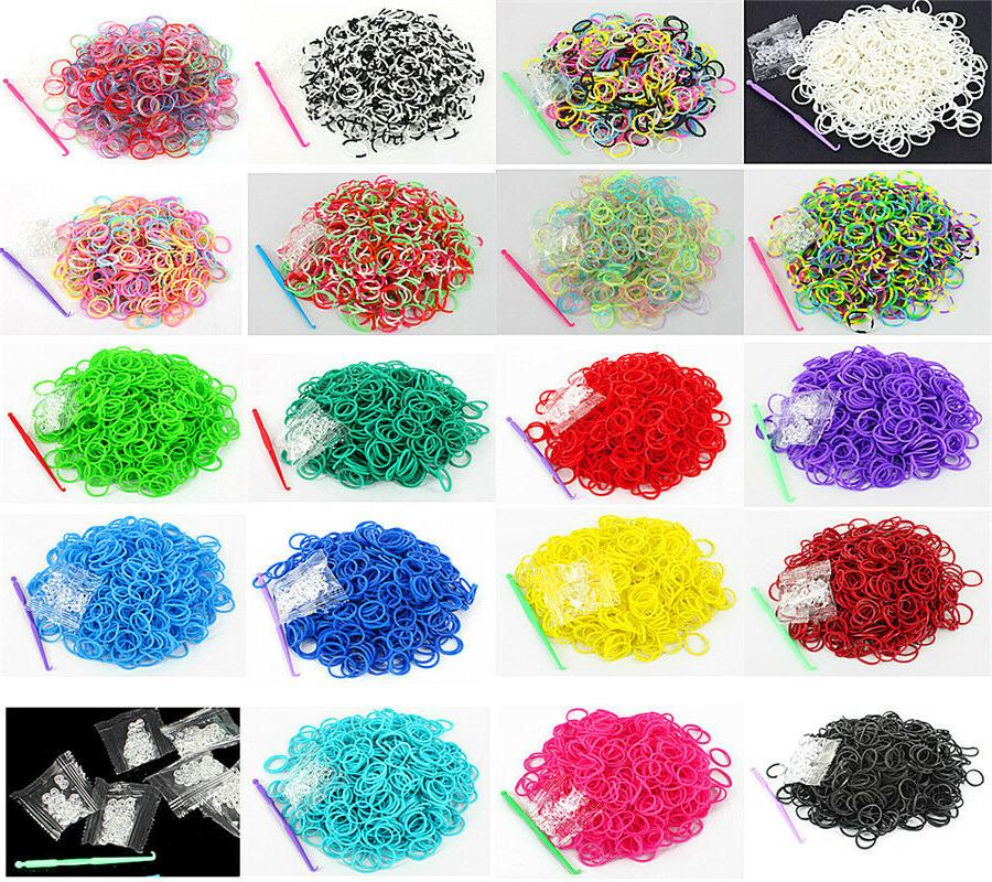 600 Rubber Loom Bands Refills For DIY With S Clips Buy 1 Get