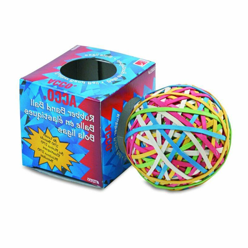 Acco 72155 Rubber Band Ball, Approximately 275 Rubber Bands,