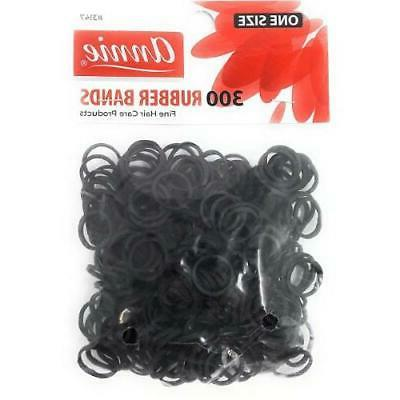 "ANNIE 300 RUBBER BANDS BLACK SMALL ONE SIZE 1/2"" #3147 ELAST"