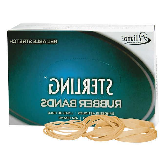 """Alliance Sterling 3"""" x 1/8"""" Rubber Bands, #32, 3 packs of 95"""