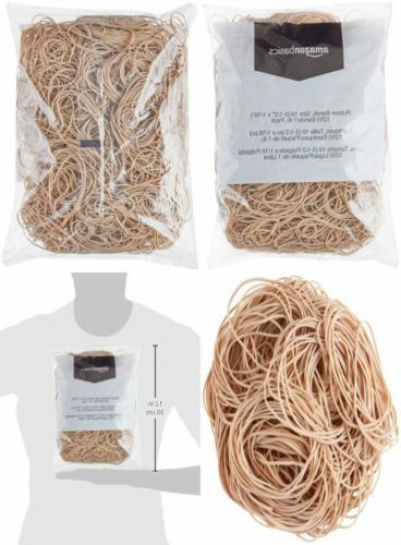 AmazonBasics Rubber Bands, Size 19 , 1250 Bands/1 lb. Pack,.