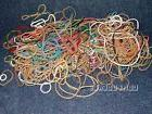 Assorted Rubber bands in various Colors, Sizes. 3 oz +., abo