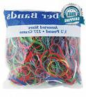BAZIC 465 Multicolor Rubber Bands for School, Home, or Offic