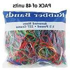 BAZIC Multicolor Rubber Bands for School, Home or Office (As