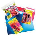 Brites File Rubber Band, 7 X 1/8 in, Multiple Color, Box of
