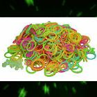 GLOW IN THE DARK Refill 600 RUBBER BANDS for Rainbow Loom &