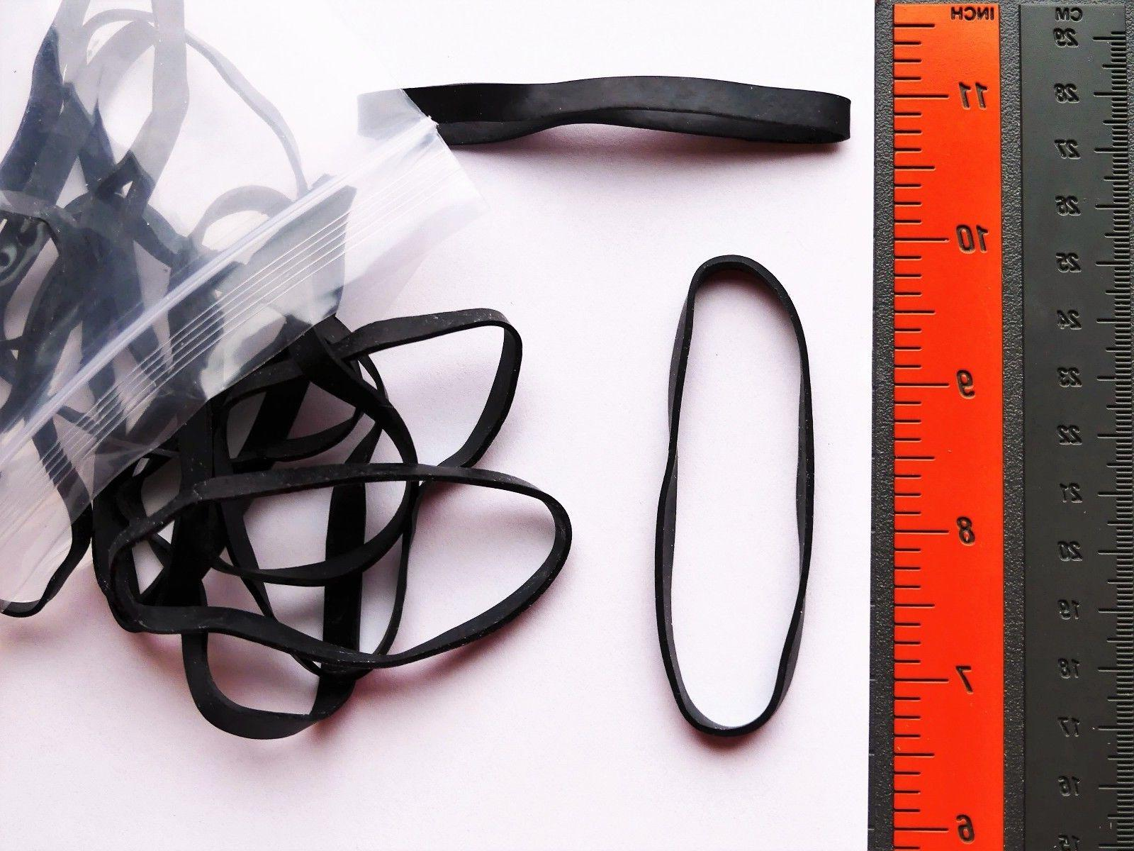 HEAVY-DUTY LARGE BLACK BANDS Resist the