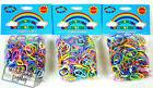 Loom Bands Refill 3 Pack Rainbow Colored Rubber Bands 1800 P