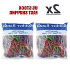 Lot of 2 Assorted Rubber Bands 1/2 Pound 227 Grams Multi Col