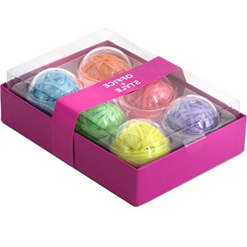 Office+Style 6 Colored Band Balls Storage Cases, 270