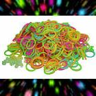 Qty 600 GLOW IN THE DARK Loom RUBBER BAND Refill~ 25 FREE S-