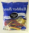 Rubber Bands Half Pound Multi Color & Sizes  Office Supplies