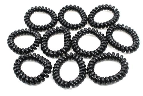 Spiral Hair Bands Telephone Wire Styled Rubber Rope Bands He