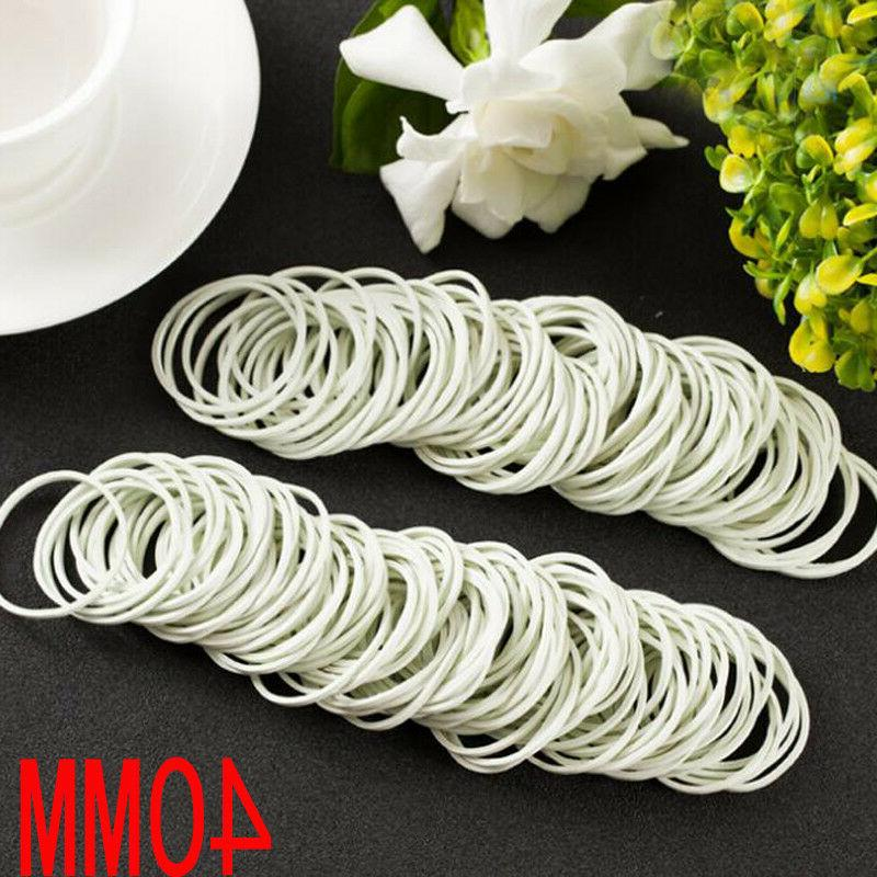 White 500 Pieces/Pack Nature Rubber Bands 40 mm School Offic