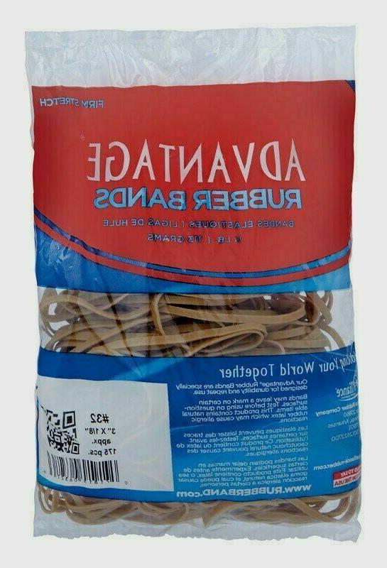 Alliance Advantage Rubber Bands In 1/4 Lb. Poly, #32 3 x 1/8
