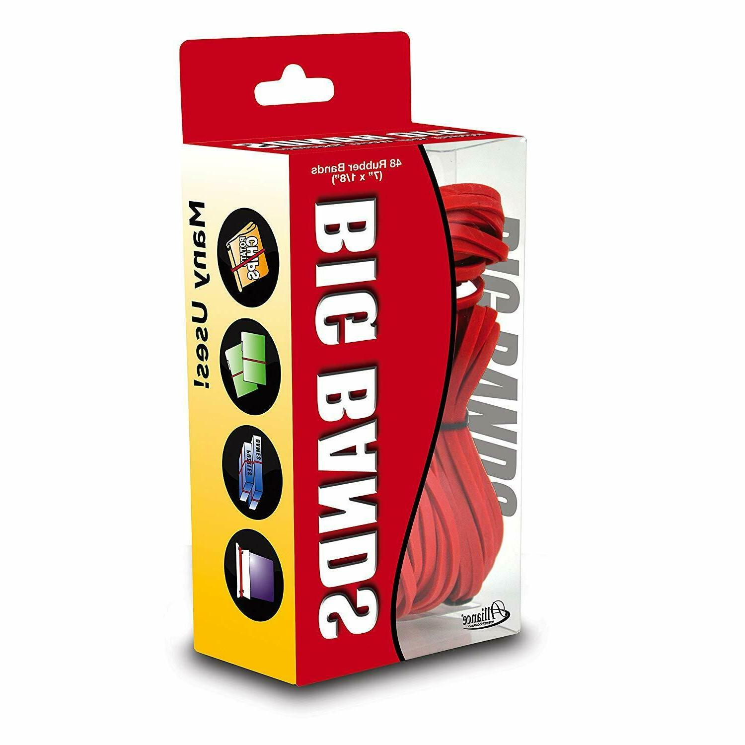 Alliance Rubber 00699 Big Bands for Oversized 144 Pack Elastic 7""
