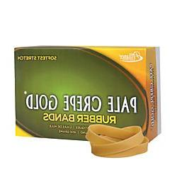 Alliance Pale Crepe Gold Rubber Bands, #84, 3 1/2in. x 1/2in