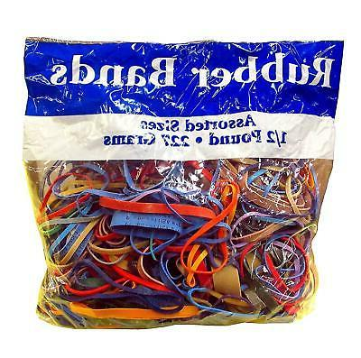 alliance rubber bands assorted dimensions 227g approx