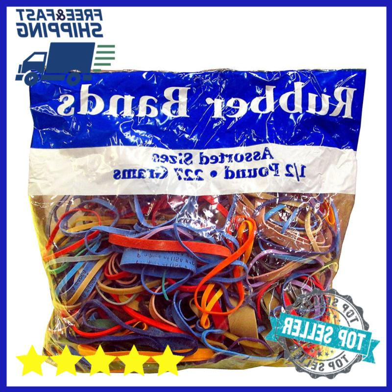 alliance rubber bands assorted dimensions office school