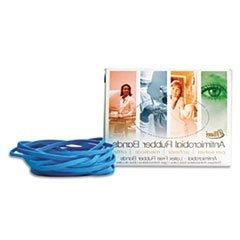 ** Latex Antimicrobial Cyan Blue Rubber Bands, Size #54, Ass