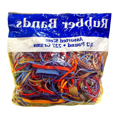 Northland Wholesale Assorted Dimensions 227G/Approx. 400 Rubber Bands,