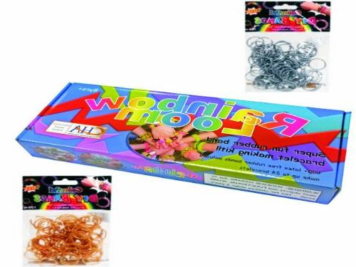 authentic rainbow loom kit bonus 100 count pack gold bands s