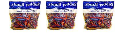 bazic multicolor rubber bands assorted large medium