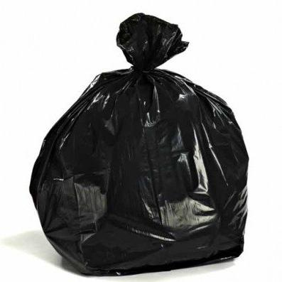 black garbage bags case