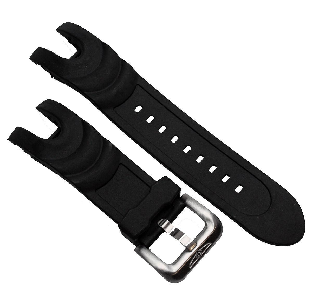Black Rubber Replacement Watch Strap Band For Invicta Reserv