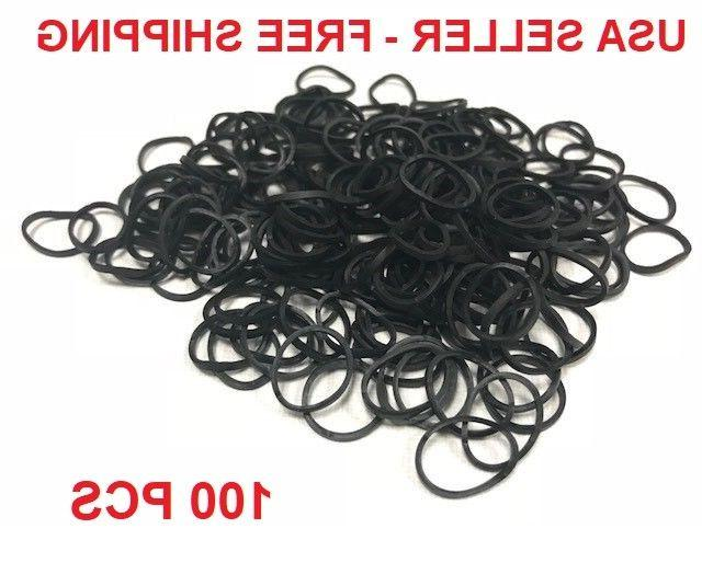 brand new 100 small black rubber bands