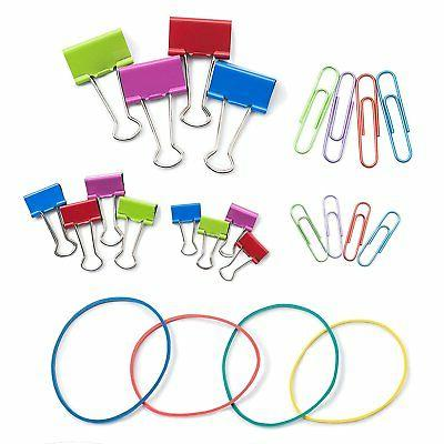 Colored Clips Set Rubber Accessories
