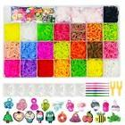 NEFUTRY Colorful Loom Kit-4800 Rubber Loom Bands, 22 Colors,