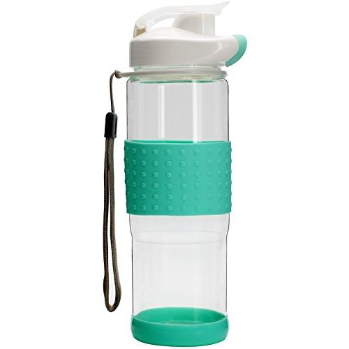 flip glass water bottle silicone