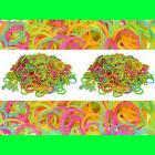 GLOW IN THE DARK- 1200  LOOM RUBBER BANDS REFILL & 50 S-CLIP