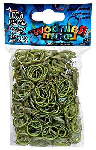 medieval neon green rubber bands
