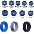 Men Women Wedding Ring Rubber Silicone Band Active Sport Gym