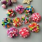 New puppy ball Boutique flower dog hair bow clips/rubber ban
