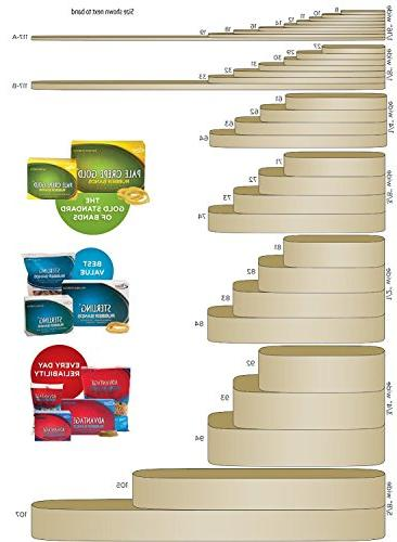 Alliance Non Latex Rubber Bands, Size 3-1/2 380 Bands/1Lb Box, Case of 2