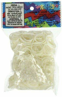 official white rubber bands refill 600 count
