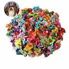 Yagopet Pet 50pcs in pairs Dog Hair Bows with Rubber Bands R