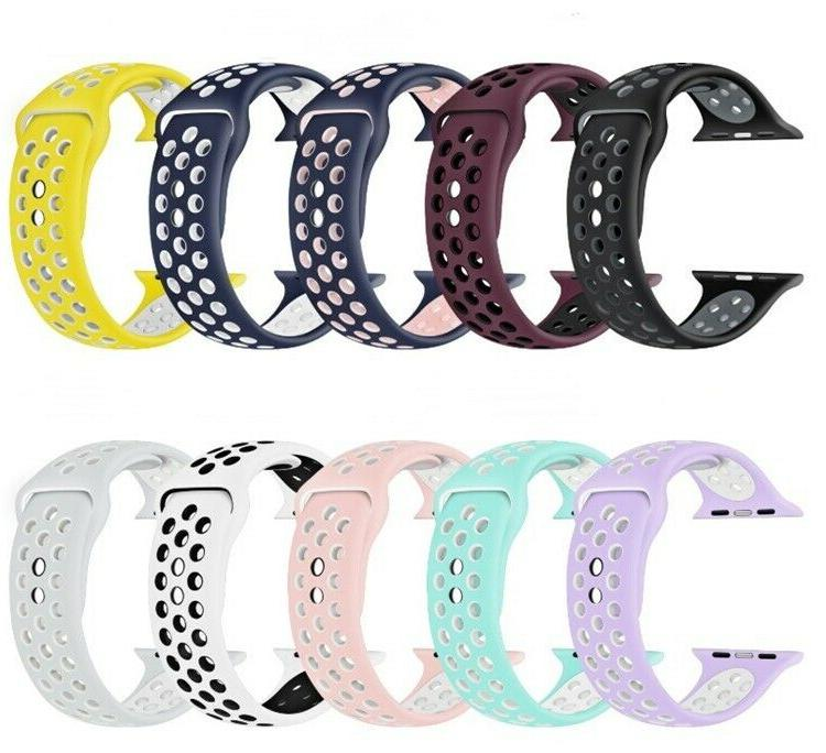 Silicone Sport Band 38mm 42mm For Nike+ Apple Watch Series 1