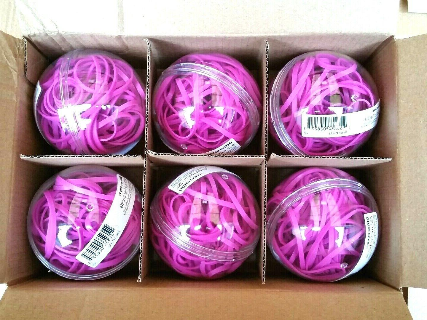 Office Depot Rubber Band Balls - Sz 32 Magenta Colored Part