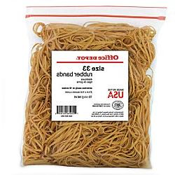 Office Depot Brand Rubber Bands, #33, 3 1/2in. x 1/8in., 1 L