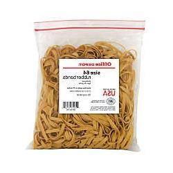 Office Depot Rubber Bands, #64, 3 1/2in. x 1/4in., 1 Lb. Bag