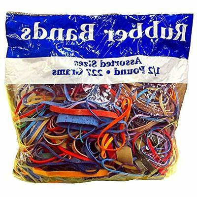 Rubber Assorted Dimensions 227G/Approx. 400 Bands, 1/2