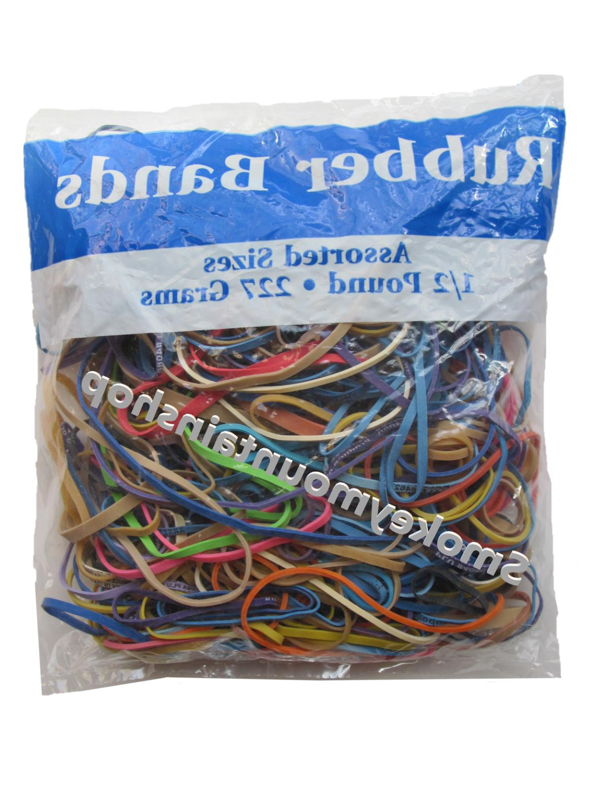 rubber bands multi color assortment large medium