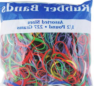 rubber bands multicolor for home school office