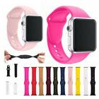 Silicone/Rubber Adjust Band Strap for Apple Watch 38MM 42MM